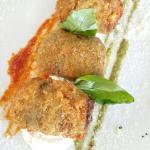 Vialone nano al limone, Crocchette di parmigiana e Babá con gelato