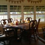 A lovely room and view of the college in the breakfast room..