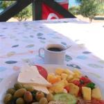 terrace, breakfast