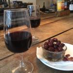 The Kalamata olives go so well with a glass of their Rioja ☺️