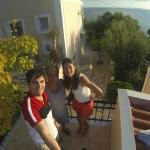 With Mr Spiros, the owner of Villa