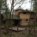 One of the wooden structures