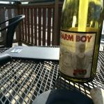 Farm Boy Viognier and sunshine on the patio