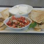 DELICIOUS Chicken Quesadilla with Avocado & fresh Salsa appetizer