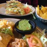 SUPERB fish tacos, warm chips and hand-made salsa, fresh guacamole, and shrimp chimichanga. OUTS