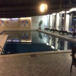 Hotel indoor pool 17m x 5m rectangular nice to swim in