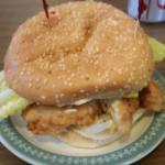 Delicious Chicken Burger, Sonya's Restaurant     190 Henderson Hwy, Winnipeg, Manitoba, Canada
