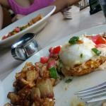 Eggs Benny and shrimp and grits with wife !
