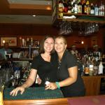 Bianca and Laura your friendly bartenders.....thank you ladies for your professionslism, great p