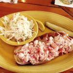 Billys lobster roll with cole slaw