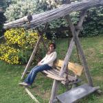 Il dondolo in giardino