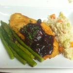 Blueberry balsamic salmon special