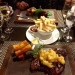 Fantastic Steak Meal with duck fat chips