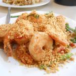 Deep fried chilli and garlic prawns