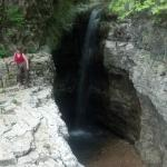 Waterfall at the back of the walls