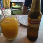 Mango juice and beer - it's combination that works :)