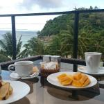 Breakfast on the terrace top floor with view