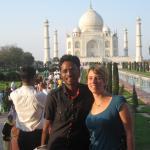 in Taj mahal