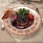 entrée crème renversée au foie gras de canard