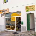 The hostel and the shop