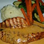 Beautifully done baked salmon