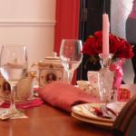 the lovely table setting beside me