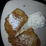 Fried pb&j: PB & jam sandwich with a twist...soaked in a batter of egg, heavy cream & cinnamon t