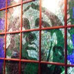 Mural behind hostess stand