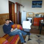 Living area/kitchenette of Great White self catering cottage
