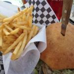 Bleu Cheese Burger & Skinny Fries