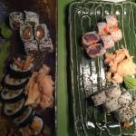 Dejlig sushi i hyggelige omgivelser.