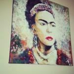 Painting of Frida Kahlo