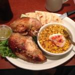 1/2 chicken with Latino corn! So good!