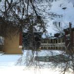 Court yard during winter