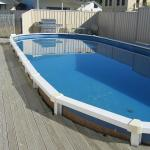 Outdoor swimming pool , great for all the family