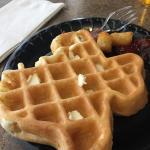Waffle from breakfast