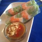 Pre made rice paper rolls