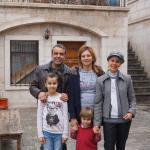 With Kadir and his family