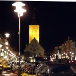 Well illuminated town