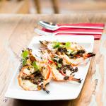 KUNG YANG SOT MAKHEM PIAK - Grilled tiger prawns with tamarind sauce
