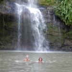 Romain a la gentillesse de  photographier notre baignade dans la CASCADE