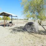 Onze plaats op de campground
