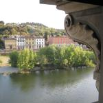 Across the Arno to the west.