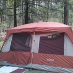 Mountainside camping King Phillips Campground May 2014