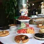 abundant desert table for Sunday brunch