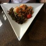 Tiger prawn and shrimp salad