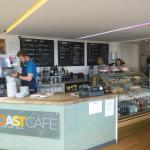 Clean, welcoming, the counter at Coast.