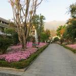 The main walkway of the hotel