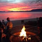 Bonfire at Lake Tahoe