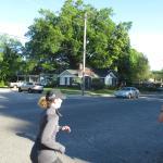 Running through Midtown neighborhood